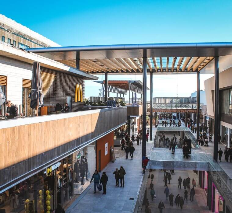 finestrelles shopping mall tconcept new construction spain barcelona