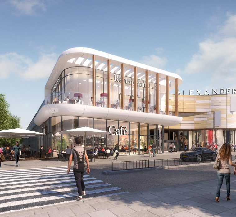 ukraine alexanderplaza retail shopping mall new project